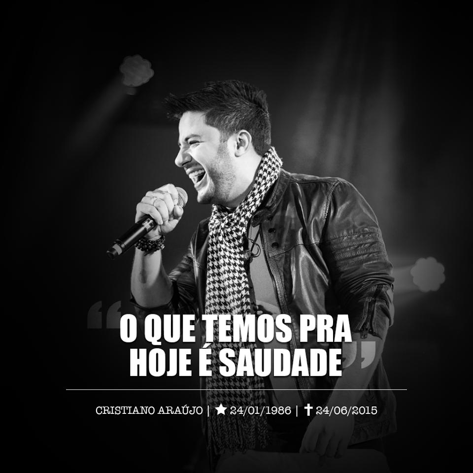 Homenagem a Cristiano Araujo em sua página do Face Book