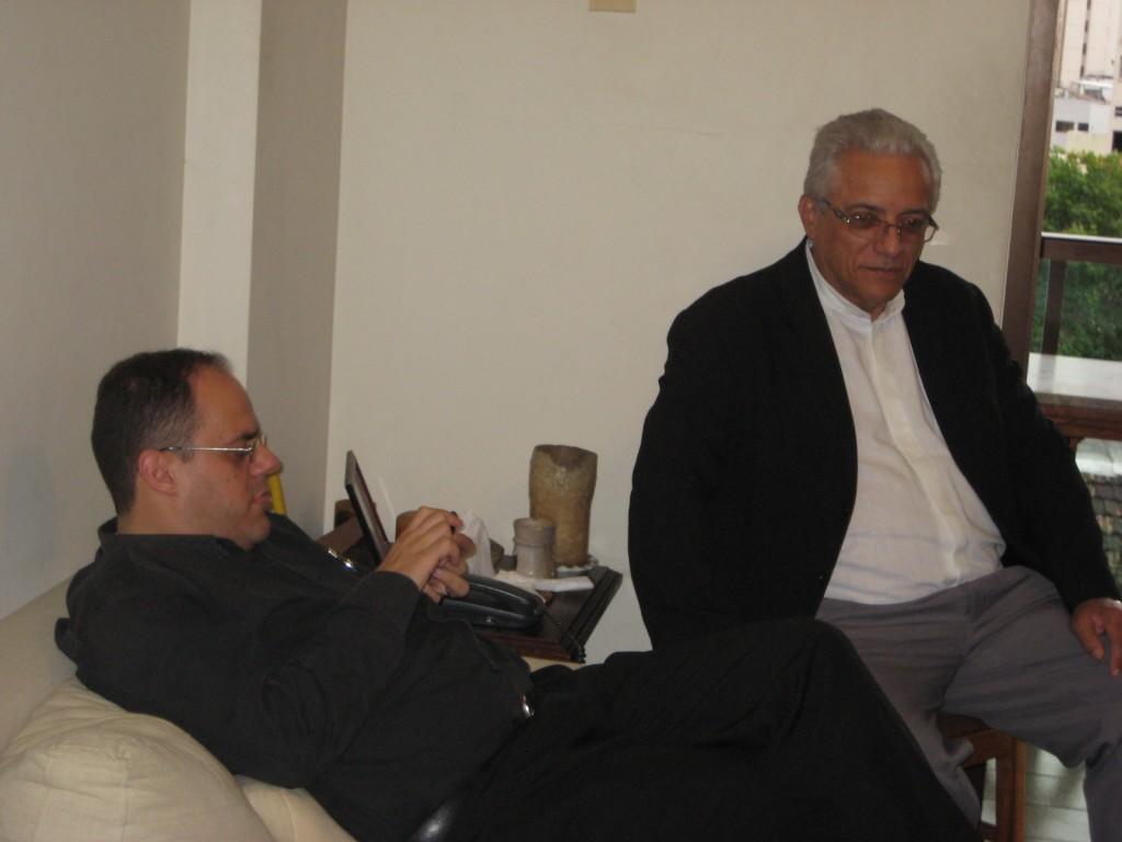 Dom Edson e José Wallace, juntos há alguns anos - Foto Marcelo Auler (2013)