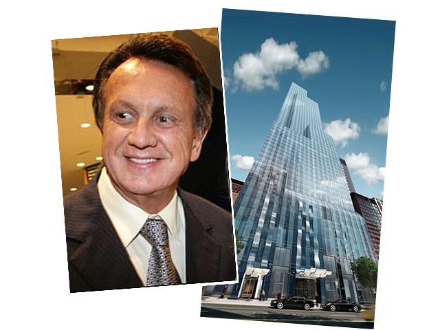 Edson Bueno e o prédio de Nova Iorque - Foto reprodução UOL/divulgação