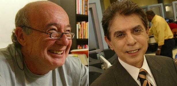 Ricardo Kotscho e Heródoto Barbeiro, do Jornal da Record News - Divulgação