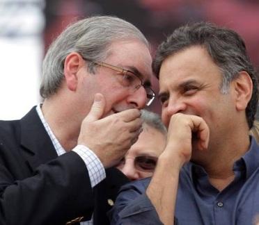 Eduardo Cunha e Aécio Neves:não vale a vontade da maioria Foto - Reprodução Jornal GGN