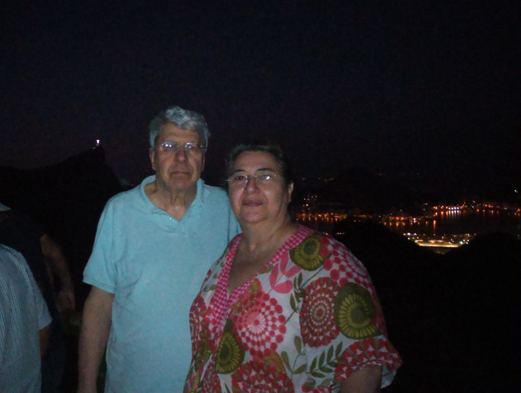 Cristina e Carlos Conde na Vista Chinesa (Foto: Marcelo Auler)