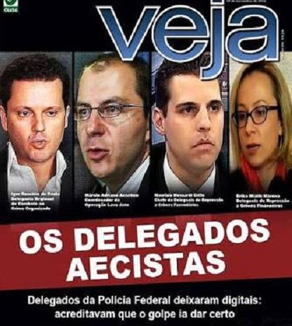 Quatro dos delegados que representaram ao MPF: Igor de Pasula, Marcio Adreiano, Mauricio Moscardi e Erika Mialik - Reprodução