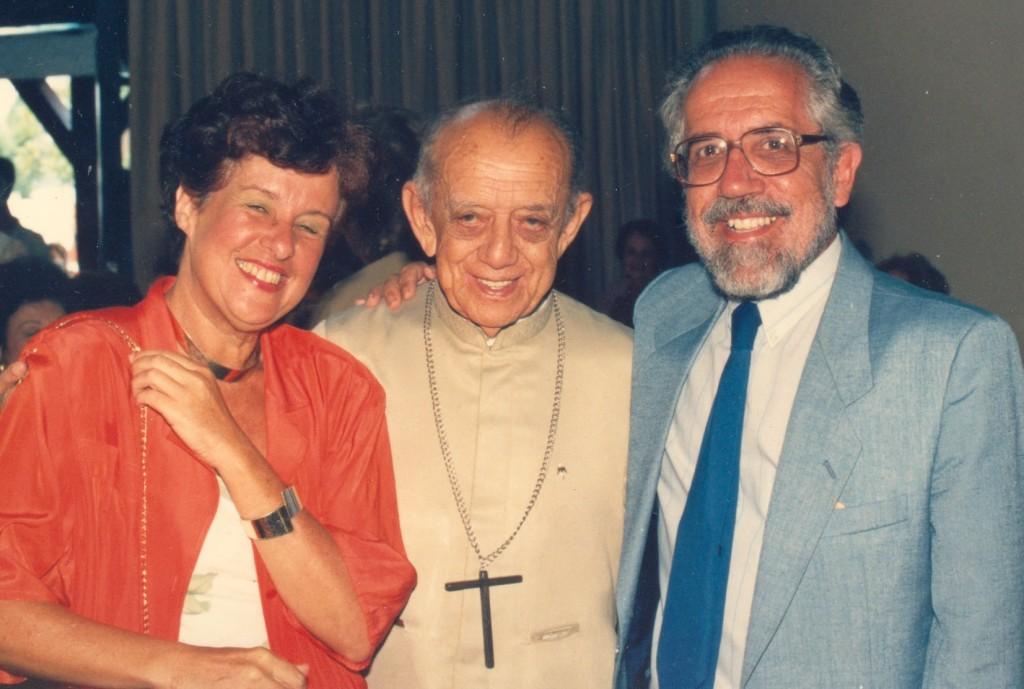 Lucia Ribeiro e Gómez de Souza, nos 80 anos de Dom Hélder - Foto: Arquivo Pessoal