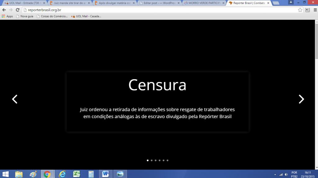 Denuncia do Site reporterbrasil.org.br- reprodução