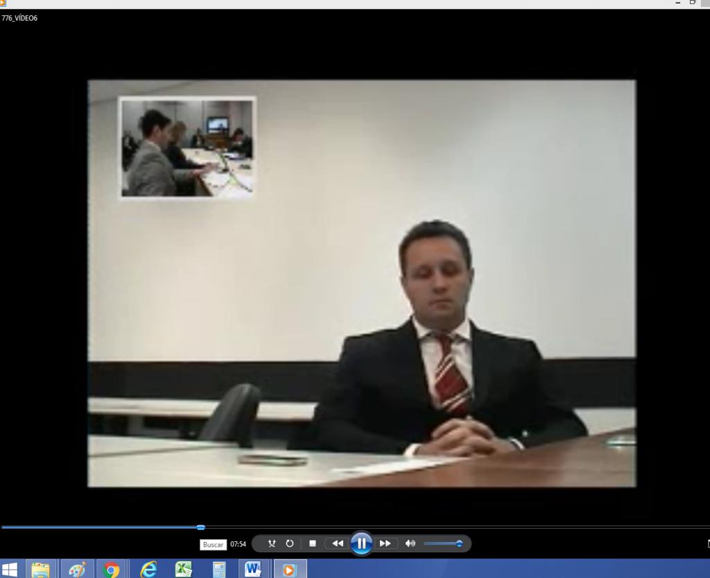 Mario Fanton depondo, por vídeo conferência na Justiça Federal de Curitiba - Reprodução
