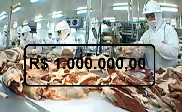 JBS Indenização de  R$ 1 milhão  por danos morais coletivo