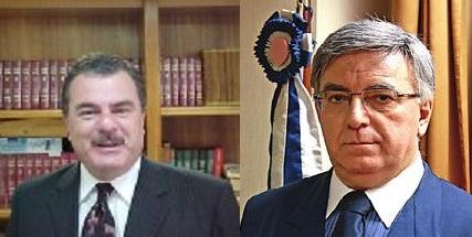 Desembargadores Ivan Athié (esq) e Paulo Espírito Santo (dir). Reprodução
