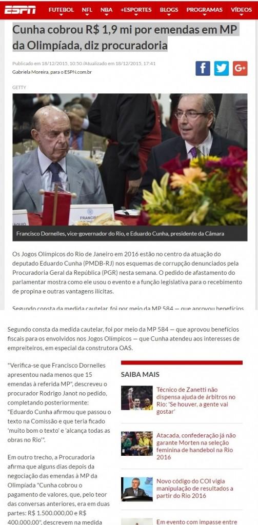 No site da ESPN, Gabriela Moreira apresenta a notícia com todos os detalhes - reprodução