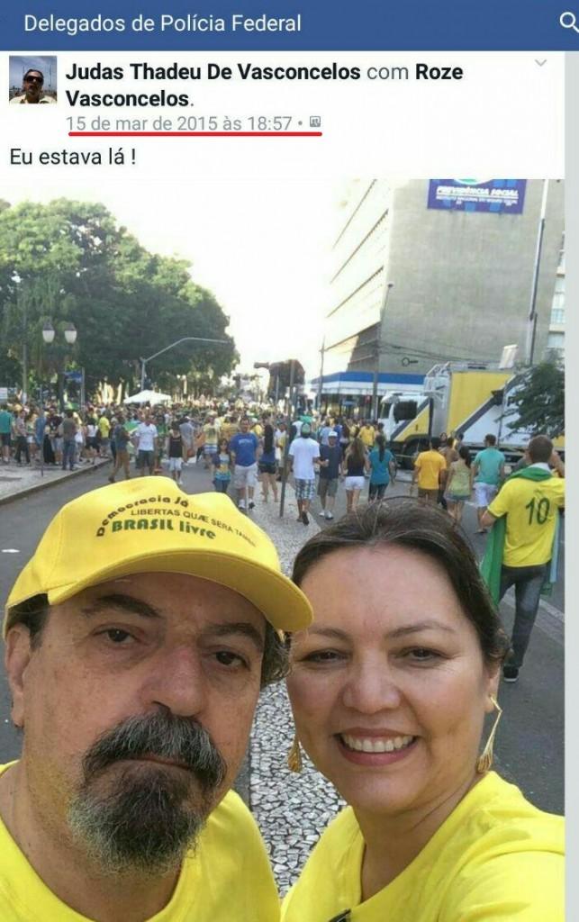 Com a mulher Roze, Thadeu de Vasconcelos registrou