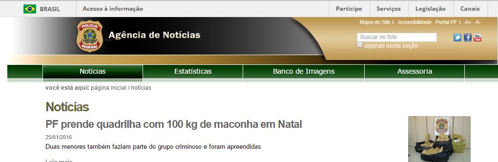 Silêncio no DPF sobre o caso de  Cristina Mautoni Marcondes Machado. Às 20:48 a notícia era da apreensão de drogas
