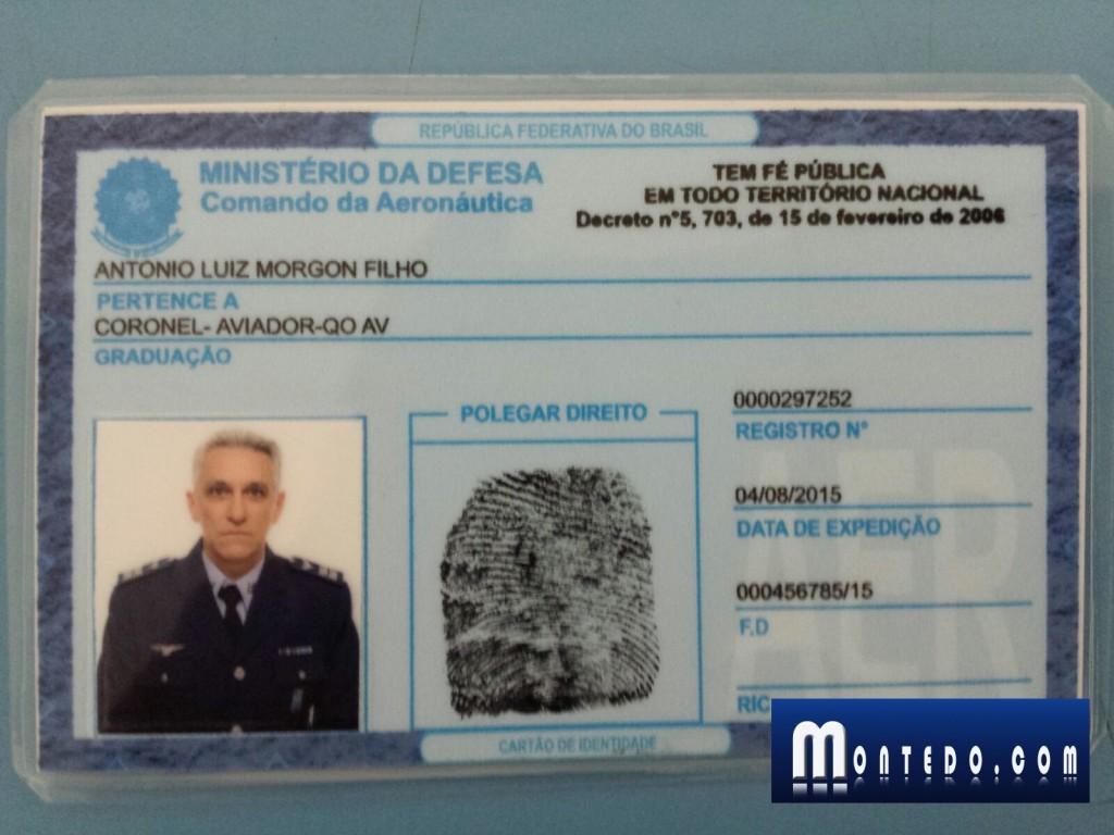 copia da identificação falsa apresentada por Morgon Filho na Base Aérea. Reprodução do site