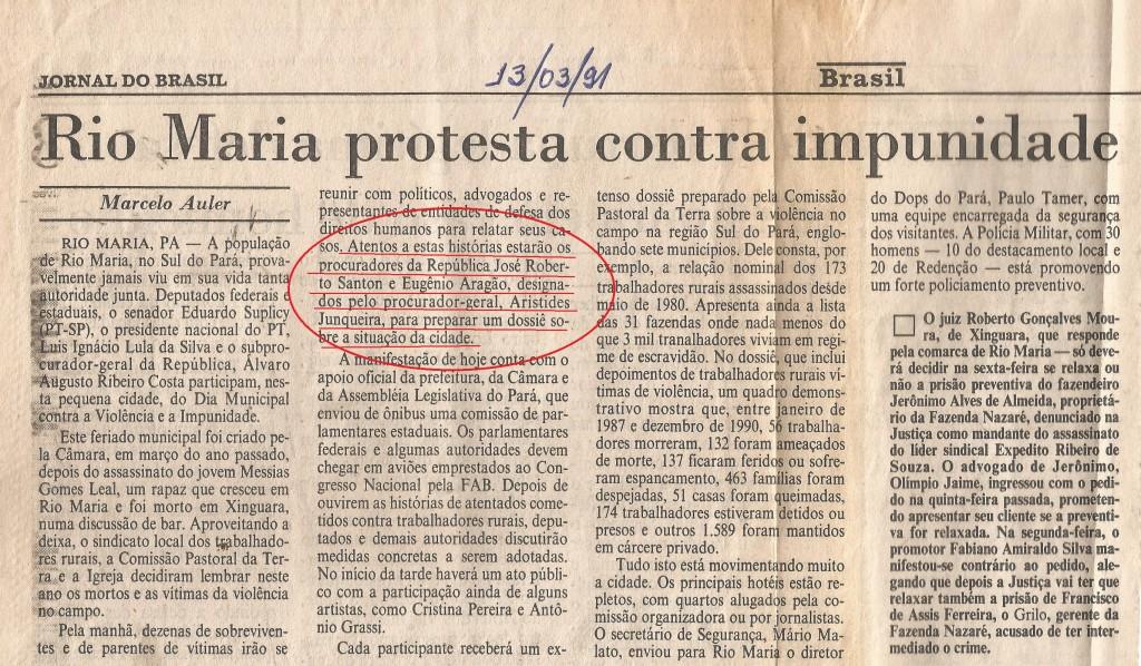 Em 1991,o jovem procurador Eugênio Aragão, em missão no sul do Pará, onde a violência reinava e a impunidade também (Foto: arquivo pessoal)