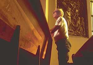 Claudio Fonteles na Igreja de São Francisco de Assis - Reprodução revista Isto é Gente