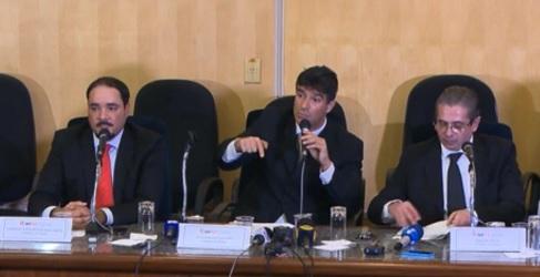 Promotores de São Paulo ao anunciarem o pedido de prisão do Lula, motivaram a nota dos colegas na Defesa do Estado de Direito - Foto: Reprodução TV Globo