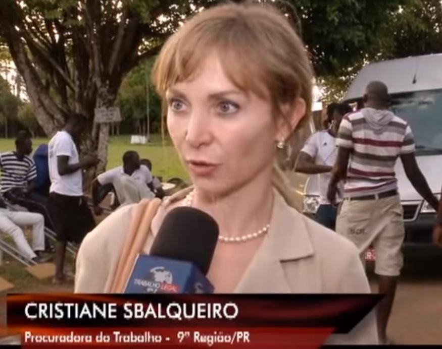 Cristiane Lopes Sbalqueiro, - GT-Migr da PGT, embora lotada em Curitiba (PR) participou de todo o processo ao do colegas Cutrim.
