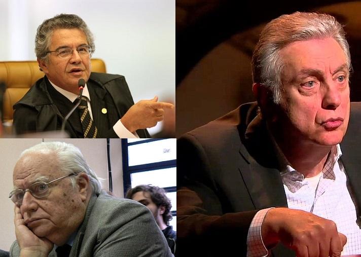 Ministro Marco Aurelio Mello e os juristas Walter Maierovitch,e José Gregori criticaram a decisão de Moro. Fotos reproduções