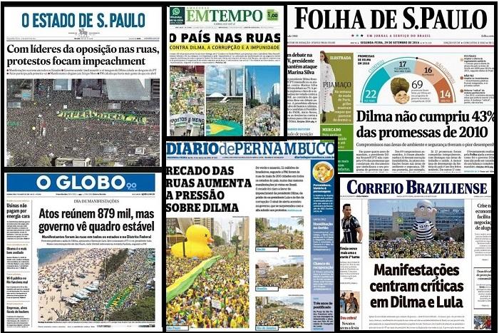 mosaico jornais contra dilma