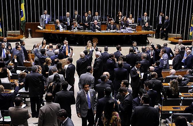 São necessários 342 votos na Câmara para aprovar o encaminhamento do pedido de impeachment ao Senado - Foto Luís Macedo/Agencia Câmara