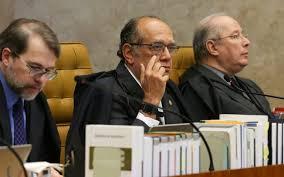 Dias Tofolli, Gilmar Mendes e Celso de Mello pretendem que a presidente Dilma Rousseff apanhe calada. Foto: Ascom/STF
