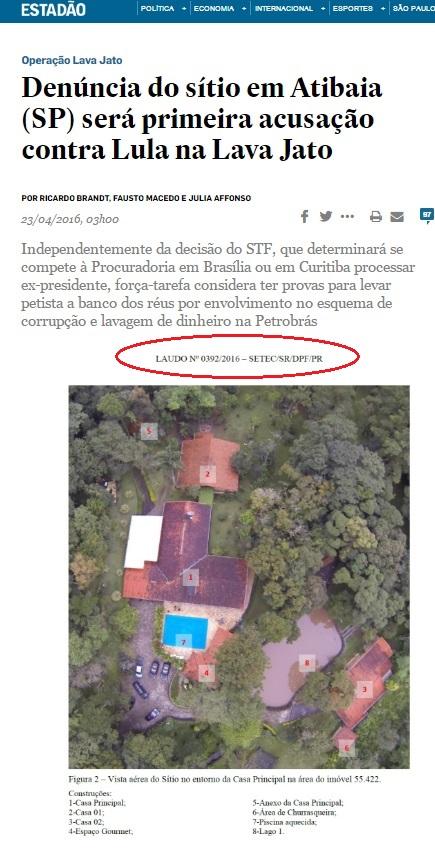 Na reportagem aparecem laudos que deveriam constar do inquérito em poder do STF. Provavelmente copias foram mantidas em Curitiba.