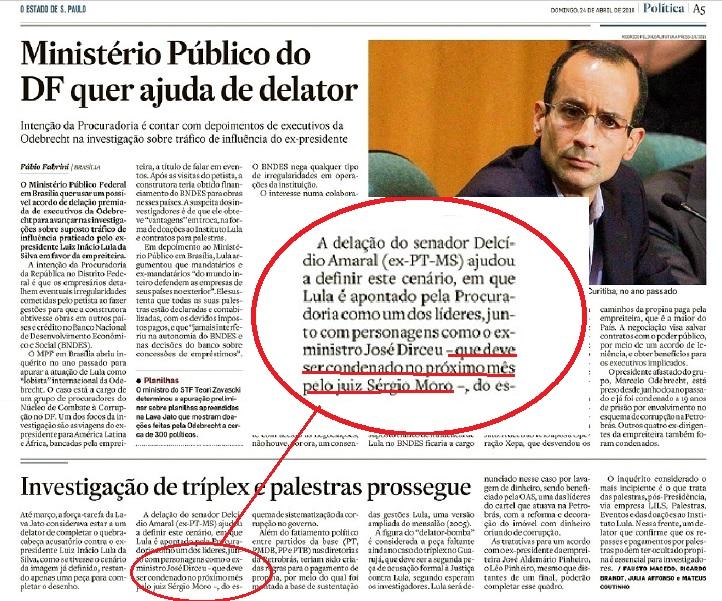 Na edição impressa de domingo, 24/04, o Estadão colocou a condenação no condicional, depois de tê-la anunciada como certa no blog, no dia anterior.