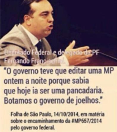Luiz Nassif atribui a frase do deputado/delegado Fernando Francischini ao uso do bilhete como forma de pressão.