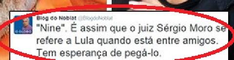 O detalhe do Twitter de Ricardo Noblat que levou o procurador a escrever sobre a intolerância e preconceito.