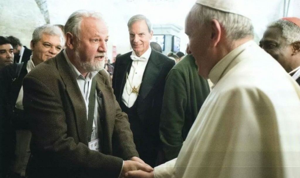 João Pedro Stédile encontra o papa  Foto L'Oosservatore Romano