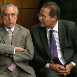 Tanto o vice-presidente, Michel Temer como o presidente do Senado, Renan Calheiros, aparece mal nas reportagem do jornal americano. Foto: reprodução