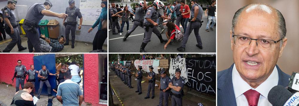 Desocupação das escolas em São Paulo (reprodução do Brasil247)