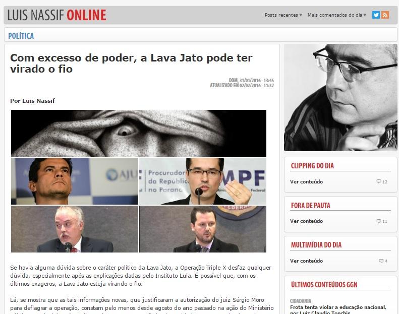 Na ação contra Luis Nassif, o delegado Igor de Paulo não conseguiu retirar a reportagem do JornalGGN.
