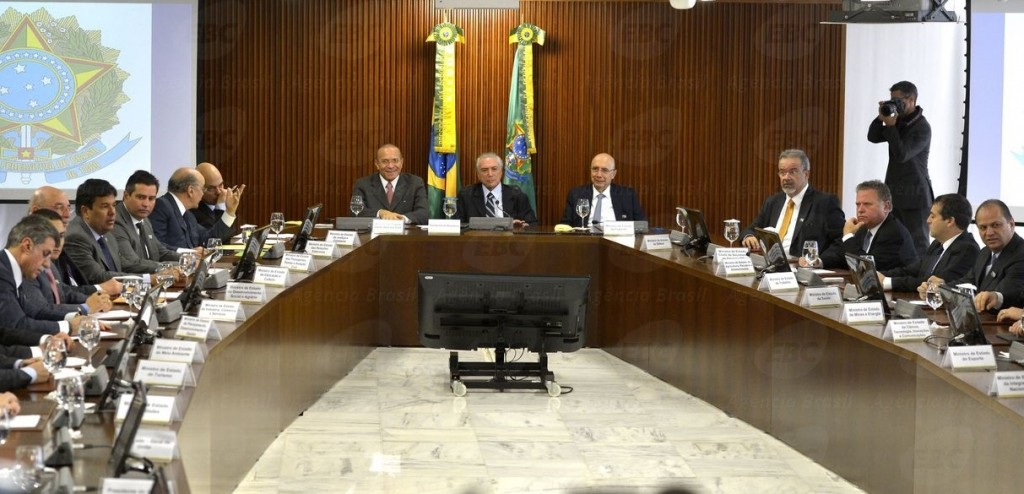 Na sexta-feira 13 a primeira reunião do ministério de Temer. Foto Agência Brasil
