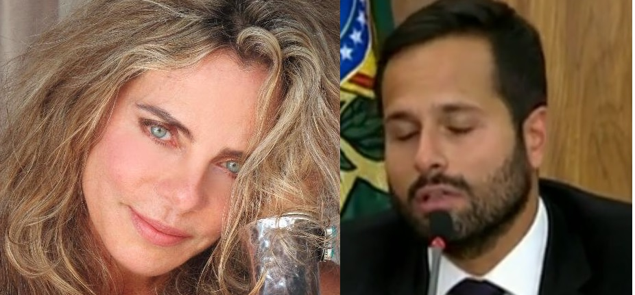 Sem Bruna Lombardi ou qualquer outra mulher - as convidadas recusaram - Michel Temer teve que se contentar com Marcelo Carnero na Secretaria de Cultura. Fotos Reprodução Twitter e NBR
