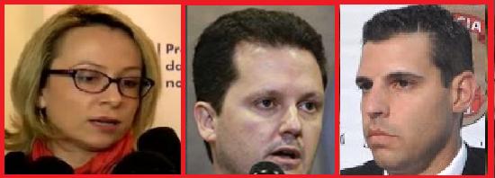 Os delegados Érika, Igor (centro) e Moscardi movem ação de indenização por Direito de Imagem contra este blog e o JornalGGN, de Luís Nassif.