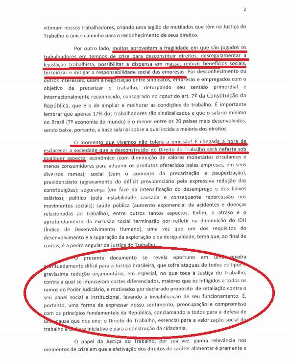 Manifesto Ministro TST2