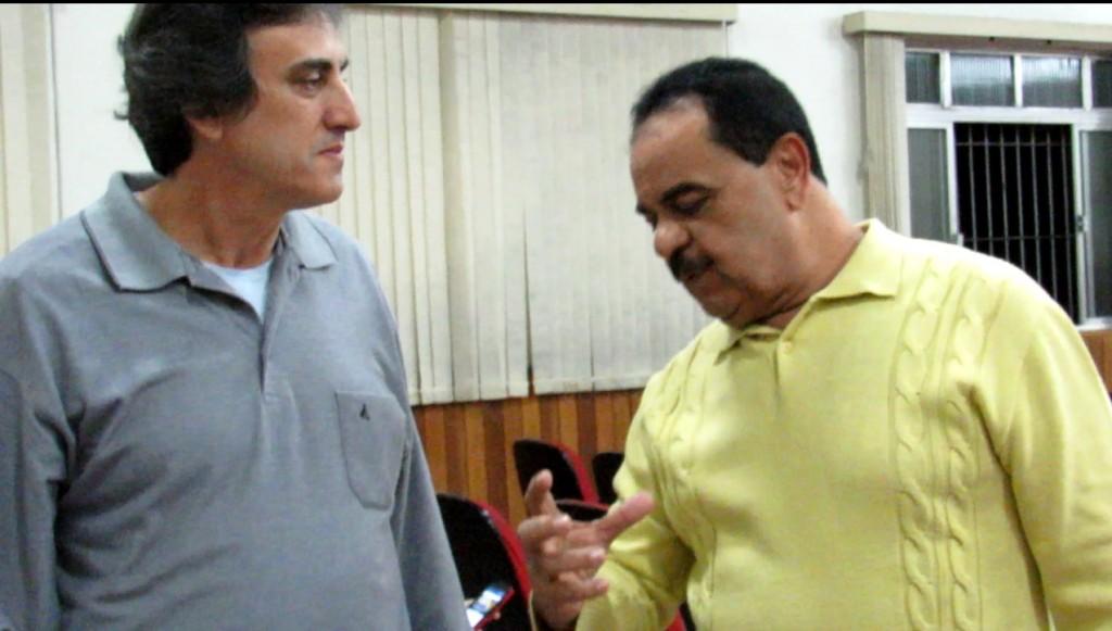 Sidney Verde (esq.) e Everandy Cirino dos Santos, dois sindicalistas que testemunham as indicações políticas de Temer. Foto Marcelo Auler