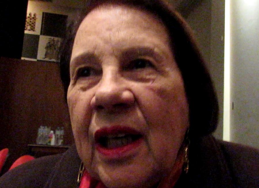 Nita Freire, em defesa da biografia do marido - Foto Marcelo Auler