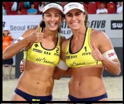 A dupla feminina de vôlei de praia, Larissa e Talita também se beneficia dos programas sociais e pode conquistar uma medalha de bronze