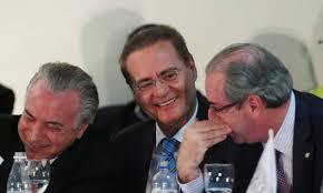 Michel Temer, Renan Calheiros e Eduardo Cunha, todos estão às voltas com denuncias de caixa 2. Agora querem anistia...... Foto reprodução