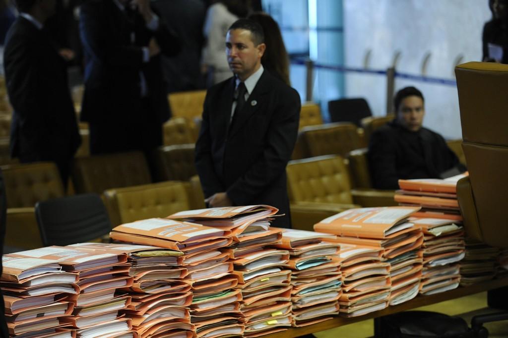 Volumes da Ação Penal 470 - mais chamado de Mensalão - Foto EBC