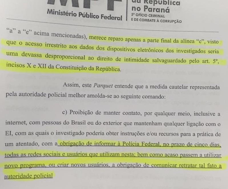 das proibições do MPF