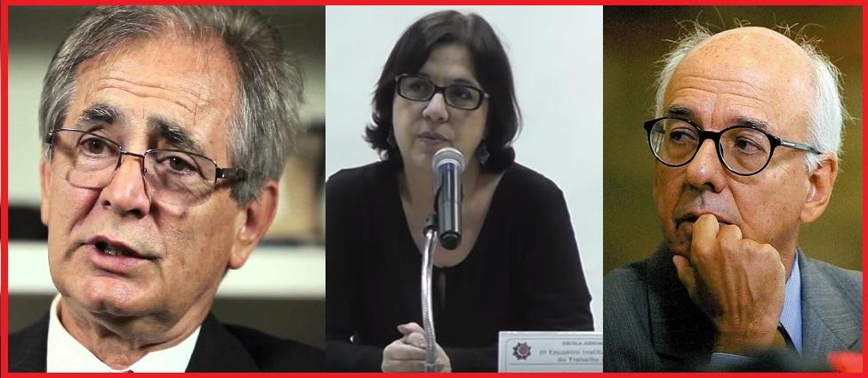 Três dos autores da denúnciua contra Gilmar Mendes: Wagner  Gonçalves,  Gisele Cittadino e Claudio Fonteles