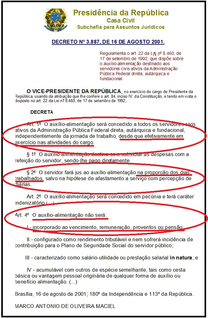 lei do auxilio alim4ntação
