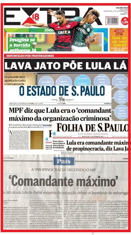 As manchetes dos jornais do dia seguinte: repercussão no Brasil e no exterior.