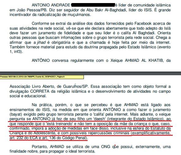 Na sua decisão, o juiz Jozsegrei fala do treinamento do filho de Antonio sem saber que ele, àquela data, ainda não tinha um ano de idade.