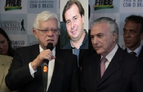 Moreira Franco, seu genro Rodrigo Maia e Michel Temer, todos na mira de Eduardo Cunha.
